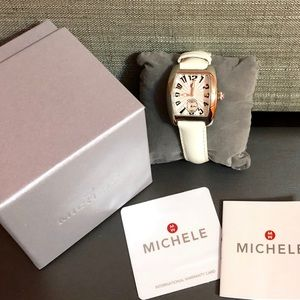 Michele Mini Urban Leather Quartz Ladies Watch